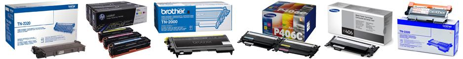 verschiedene Originaltoner - Brother Toner, Samsung Toner, HP Toner